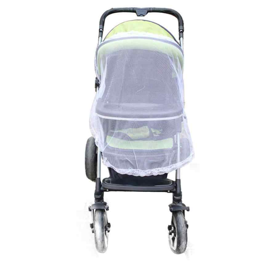 Newest Summer prevent mosquito Universal Lace Safe Baby Carriage Insect Mosquito Net Baby Stroller Cradle Bed dig6627