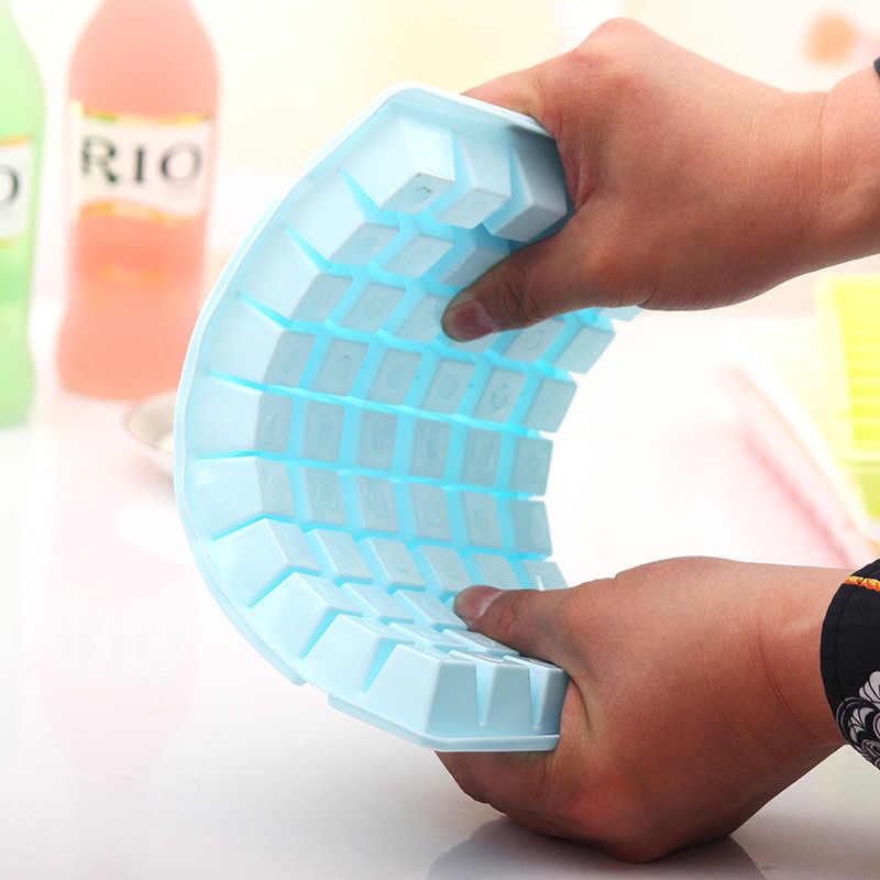 60 Grid Food Grade Silikon Es Nampan Buah Ice Cube Maker DIY Kreatif Kecil Cetakan Es Batu Bentuk Persegi Dapur aksesoris @ 2