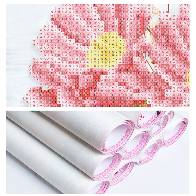 Floral Designed Diamond Embroidery for Home Decor