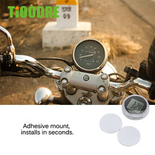 TiOODRE New Mini Precision Motorcycle Digital Clocks Waterproof Shock Proof Stick-On Motorbike Mount Watch Motor With Stopwatch(China)
