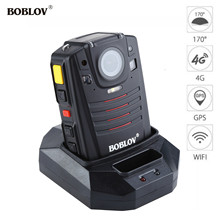 BOBLOV HD66-07 GPS 4G Body Police Video Camera DVR 32GB Law Enforcement Cam 2inch LCD with 1950mAh Battery 170Degree Wide Angle