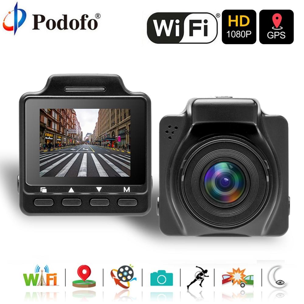 Podofo Dash Cam Dual Len Car DVR GPS Camera Wifi FHD 1080P Night Vision Video Recorder Registrator Car Camcorder Parking Monitor цены