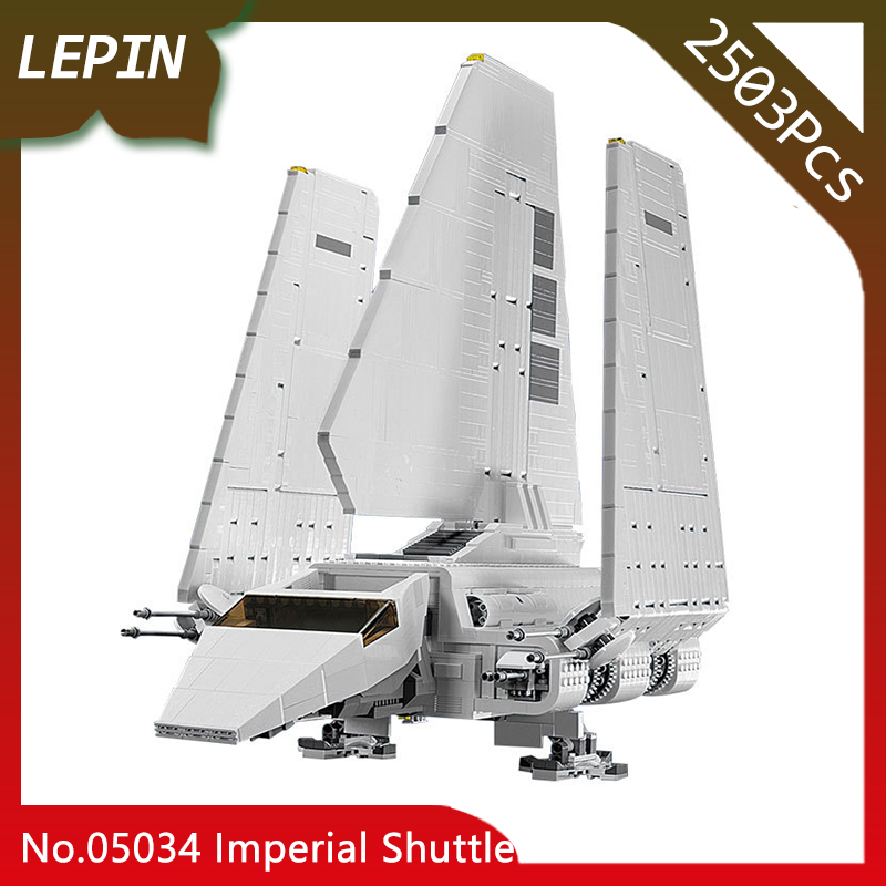 Lepin 05034 Stunning The Assemble Shuttle Star Children Toys Wars 2503pcs Building Blocks Bricks Compatible with 10212 Christmas new lepin 16009 1151pcs queen anne s revenge pirates of the caribbean building blocks set compatible legoed with 4195 children