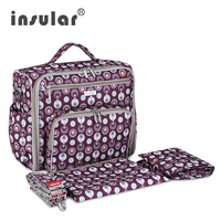 Insular Fashion Baby Diaper Bag Backpack Multifunctional 600D Nylon Nappy Maternity Bag Mommy Backpack Baby Mother Travel Bags