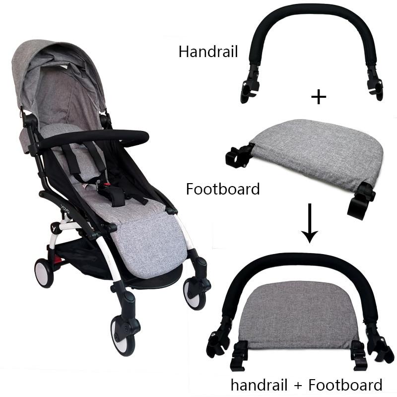 Baby Stroller Footboard & Leather Cloth Material Handle Bar Stroller Accessories For Babyzen Yoyo Yoya Babytime Pram Bumper