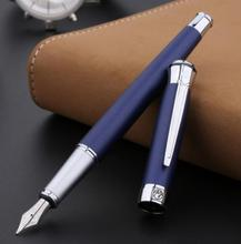 Free shipping wholesale school office supplies pen Picasso Luxury blue & silver 0.5mm nib fountain pen high quality writing pen