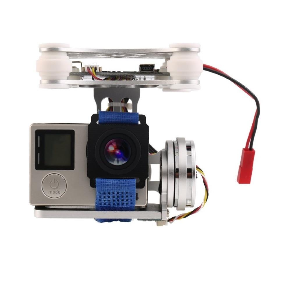 Argent FPV 2 Essieu Brushless Cardan Avec Contrôleur Pour DJI Phantom GoPro 3 4
