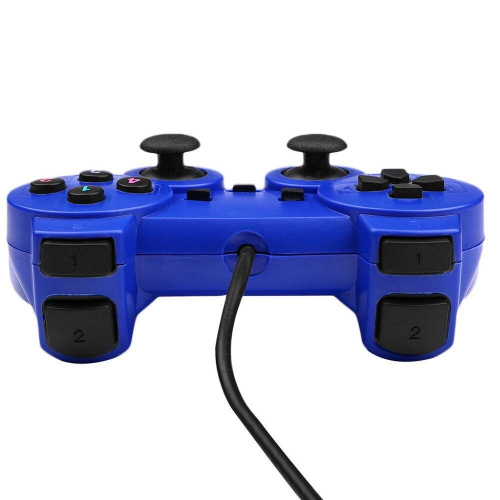 Vibrationsmotor Schock Vibration USB Verdrahteter Spiel-steuerpult Gamepad Joystick controle Für Windows PC Kam Geschenk für Junge Männer
