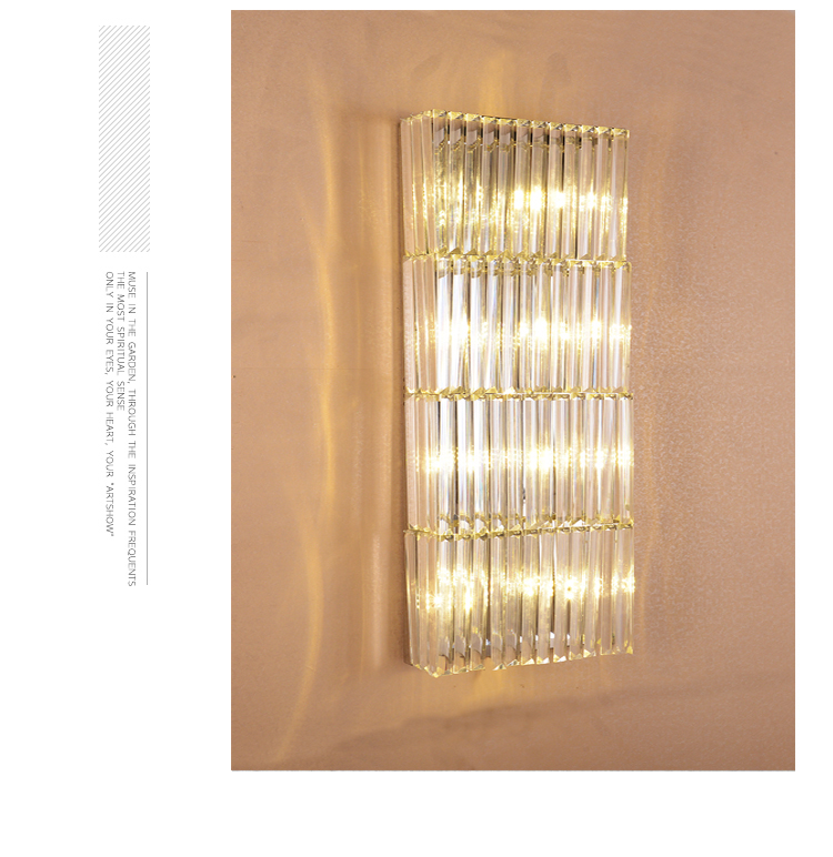 LED Customized extra Long crystal lighting 80-150cm large crystal Wall lamps Villa Living Room Club Hotel Wall sconce 2017 new