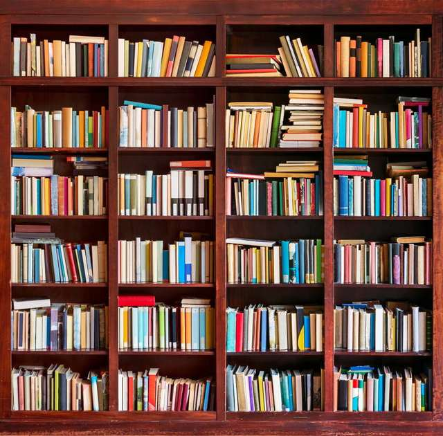 An extensive collection of books