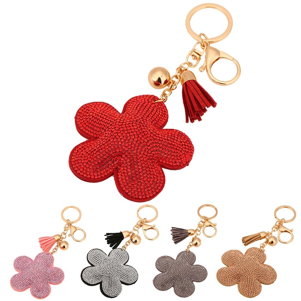 Starry Styling Rhinestone Tassel Keychain Bag Handbag Key Ring Car Key Pendant Key Chains Delicate
