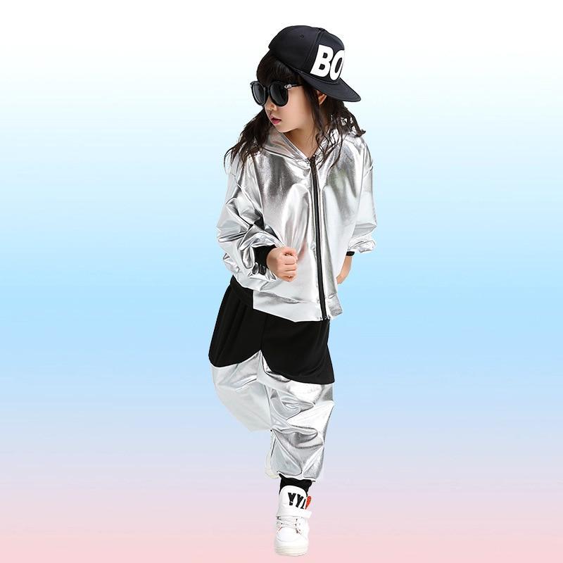 Children Jazz Dance Costume Boy Hip-hop Dance Costume Male Drummer Wear for Performance Girls Stage Dance Clothing Sets