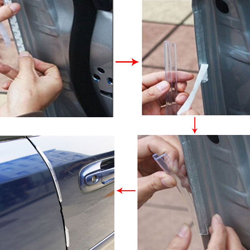 8Pcs/Set Auto Car Door Guard Edge Corner Bumper Guards Buffer Trim Molding Protection Strip Scratch Protector Car Door Crash Bar-in Styling Mouldings from ... & 8Pcs/Set Auto Car Door Guard Edge Corner Bumper Guards Buffer Trim ...