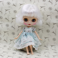 Blyth nude doll with joint body White hair Cute Bjd doll with four colors big eyes 12 fashion dolls for girls gifts.