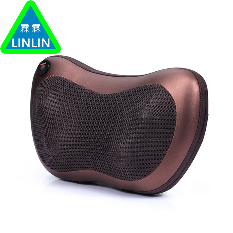 JinKaiRui Electric Infrared Heating Kneading Neck Shoulder Back Body Spa Massage Pillow Car Chair Shiatsu Massager Masaj Device electric infrared heating kneading neck shoulder back spa massage pillow car chair shiatsu massager masaj device pain relief kit