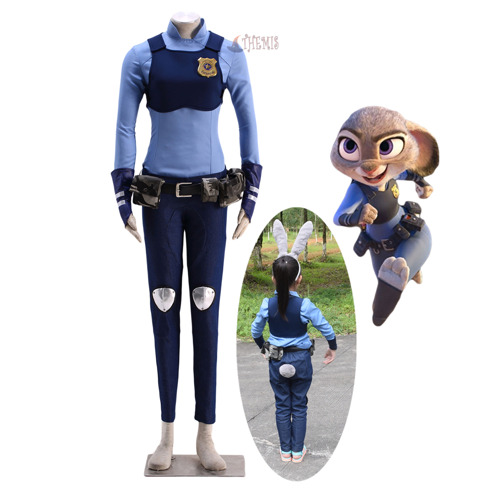Athemis new Zootopia Zootropolis Judy Hopps cosplay costume adult size and children size outfit custom made size