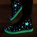 Primavera unisex fashion star impreso brillante lienzo luminoso iluminado led zapatos de alta superior zapatos zapatillas hombre tenis femenino