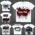 2015 Hip-Hop Rock And Roll Linkin Park Camiseta Anime Japonés de Animación de La Novedad hombres Camiseta Cosplay Traje Ropa de Verano