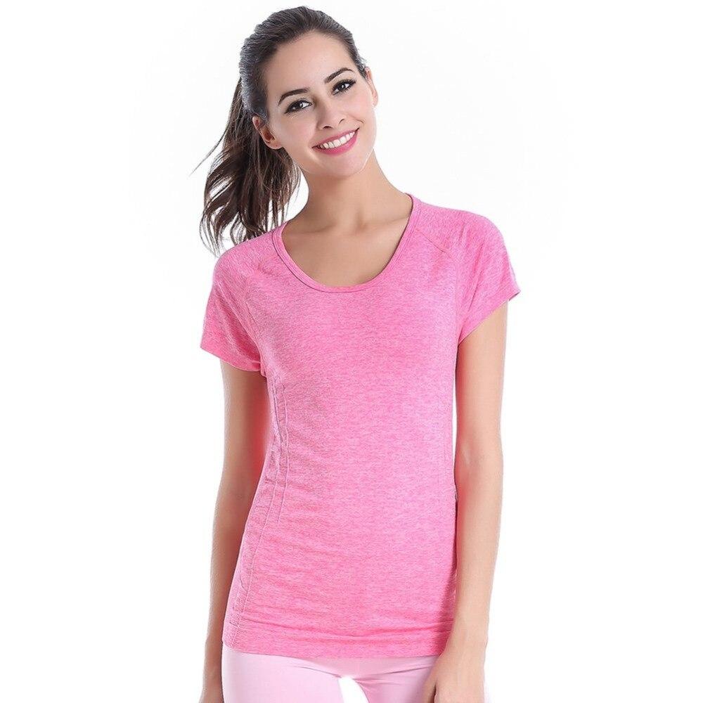 af88247626dd Mode 4 Couleurs Femmes À Manches Courtes Entraînement de Remise En Forme  T-Shirts