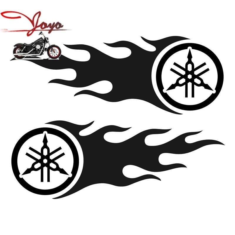 Flame Tuning Fork Logo Decals Fuel Tank Stickers For Motorcycle YZF R6 YZF R1 FZ6 FZ1 Fazer XJR400 XJR1300 XJR1200 7.87x 2.88 yamaha xjr400 fzr400 fz6 fz1 yzf r6 r1 xjr1300 преобразован начиная гвозди шурупы