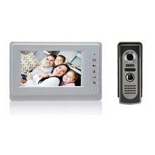(1 Unidades) 7 Pulgadas TFT Color Video de la puerta Sistema de Intercomunicación Del Timbre del teléfono Kit IR monitor de la Cámara del teléfono Manos Libres de intercomunicación