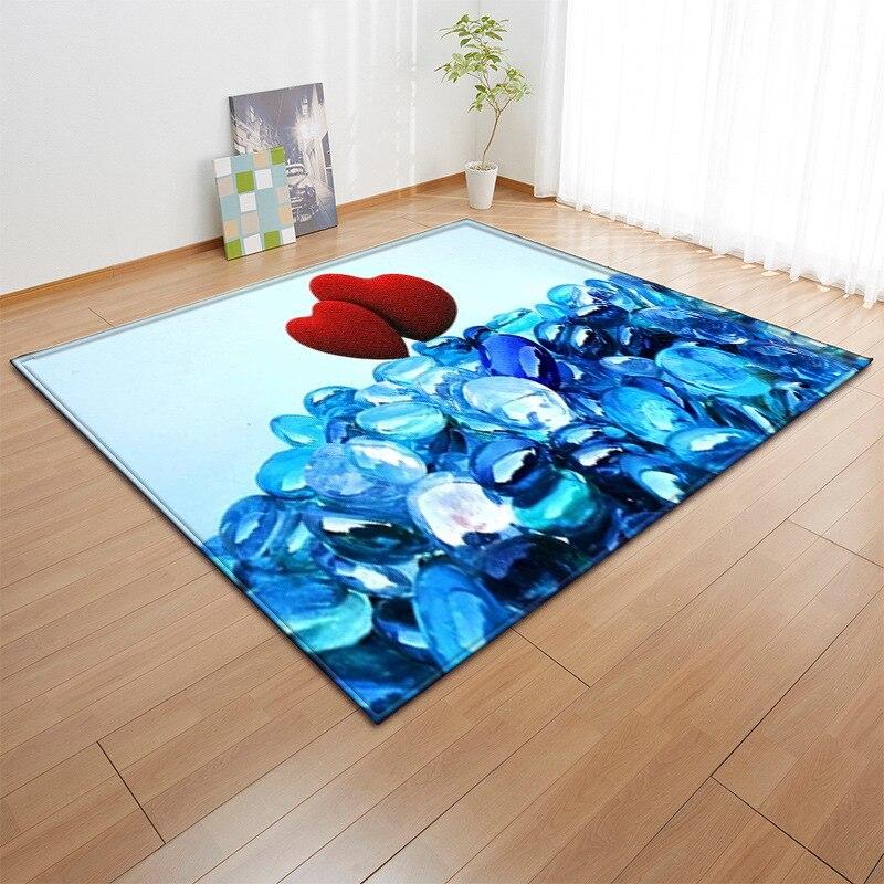 Luxe amour coeur impression tapis pour salon chambre anti-dérapant Floormat moderne grand doux zone extérieure tapis couverture décor à la maison