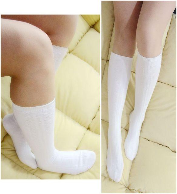 d71637df3db free shipping Women s knee-high socks cotton 100% twisted student socks  young girl socks white school uniform socks
