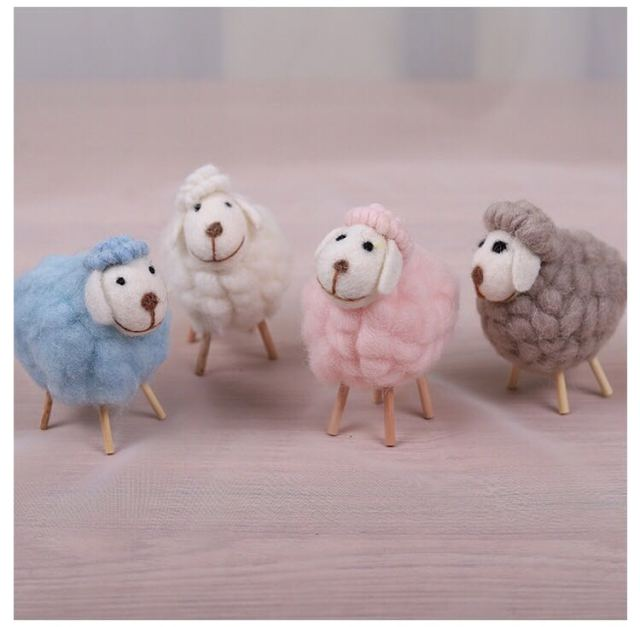 New Nordic style kids Room Wool Felt Sheep Decor Scandiniavian Decor For Girl Boy Room Nordic Felt Animal Nice Gift For Kids