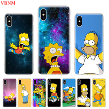Bart Simpson Fantasy Soft Phone Back Case For iPhone 6 6S 7 8 Plus X 10 XS MAX XR 5 5S SE Gift Customized Art Cover Coque Cases