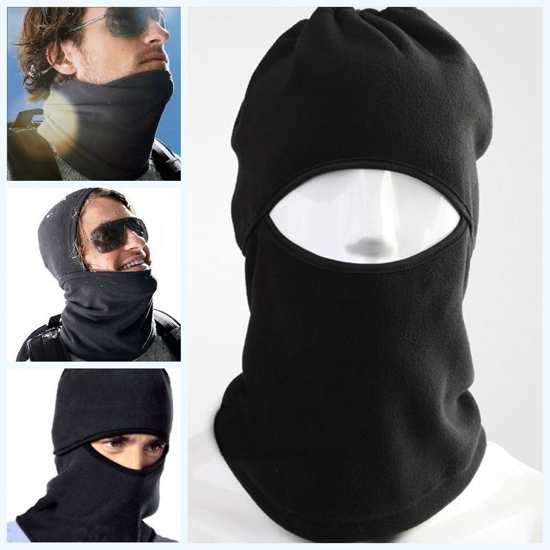 Unisex Thermal Fleece Fashion Balaclava Neck Winter Ski Full Face Mask Cover Cap Half Hat Face Masks Windproof Mouth Mask