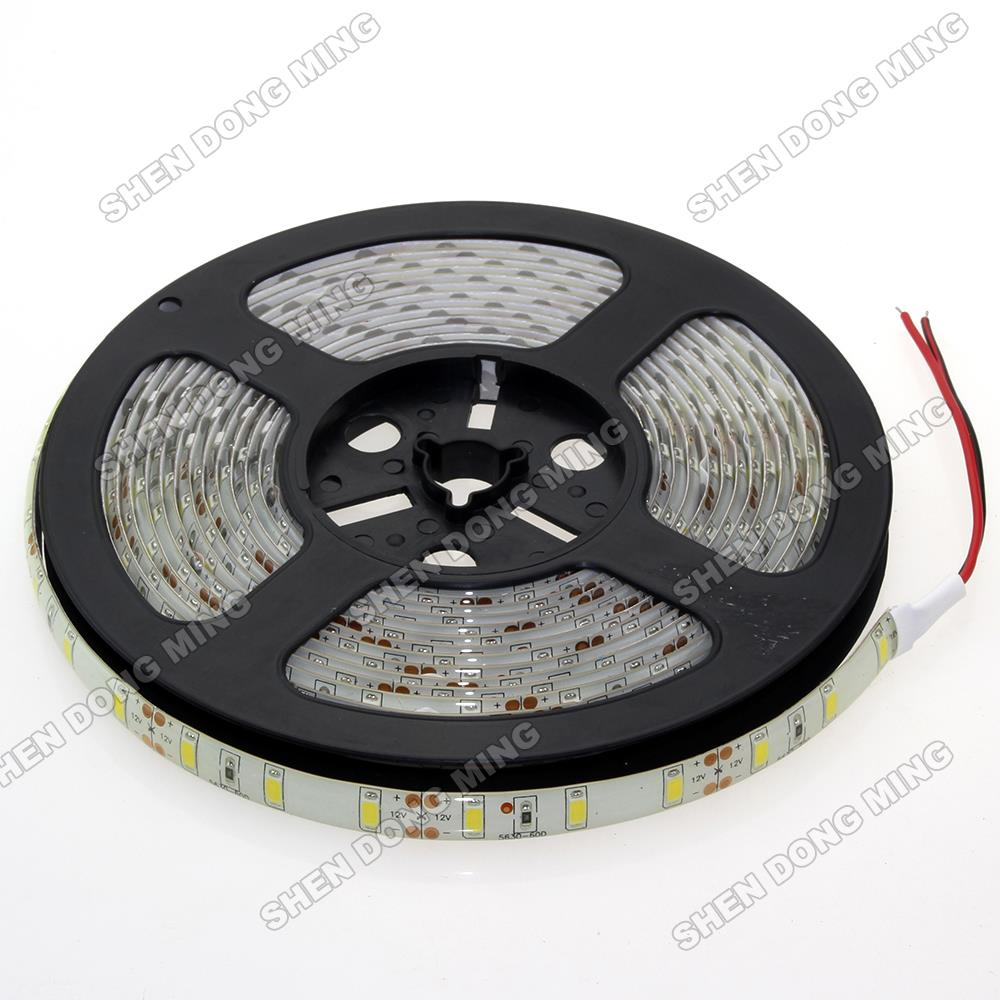 waterproof IP65 LED Strip Light 5630 led flexible 12V 5m 60 led/m Cold White Warm White Red Green Blue led tape lamp ribbon