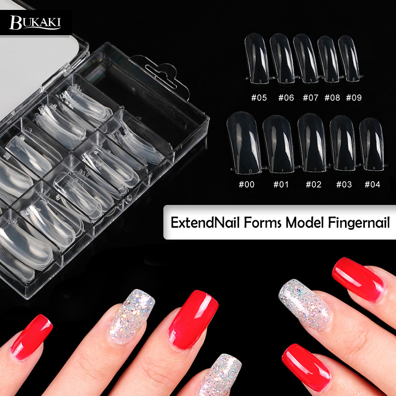 Bukaki 100pcs False Nail Natural French Acrylic Uv Gel Fake Art Tips Extension Kit Tools For Poly In From Beauty Health On