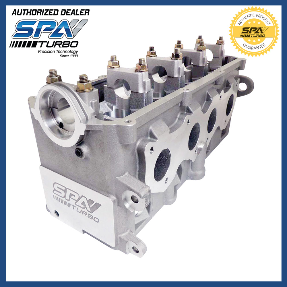 US $590 0 |SPA Turbo XFlow cross flow race street ported cylinder head fits  VW 8V Golf Jetta 1 8L 2 0L ABA MKIII GTI EVCABT01 high CFM-in Cylinder