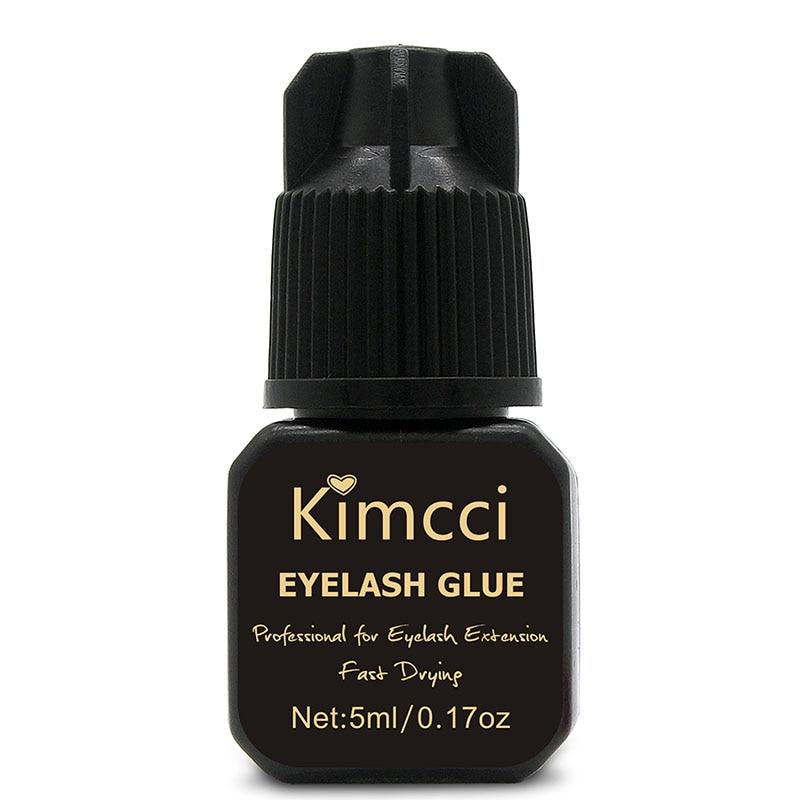 Kimcci Individual Eyelash Glue Extension 3 Seconds Black Lashes Adhesive For False Eyelashes Extensions Fast Dry Long Lasting