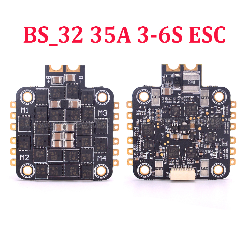 BS_32 35A 4IN1 3 6S ESC BLheli32 DShot1200 Dshot600 Dshot300 controller board for multi axis FPV Drone Floss 210 Nova 235mm-in Parts & Accessories from Toys & Hobbies    1