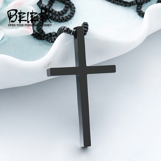 New Fashion Gothic Style Cross Pendant For Man And Woman Stainless Steel Personality Charm Jewelry Bp8 241