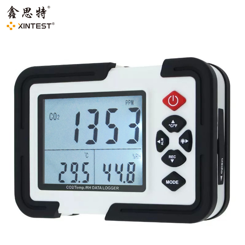 Digital co2 Meter co2 Monitor gas Detector HT-2000 Gas Analyzer co2 Analyzers 3in1 Temperature Relative Humidity co2 detector