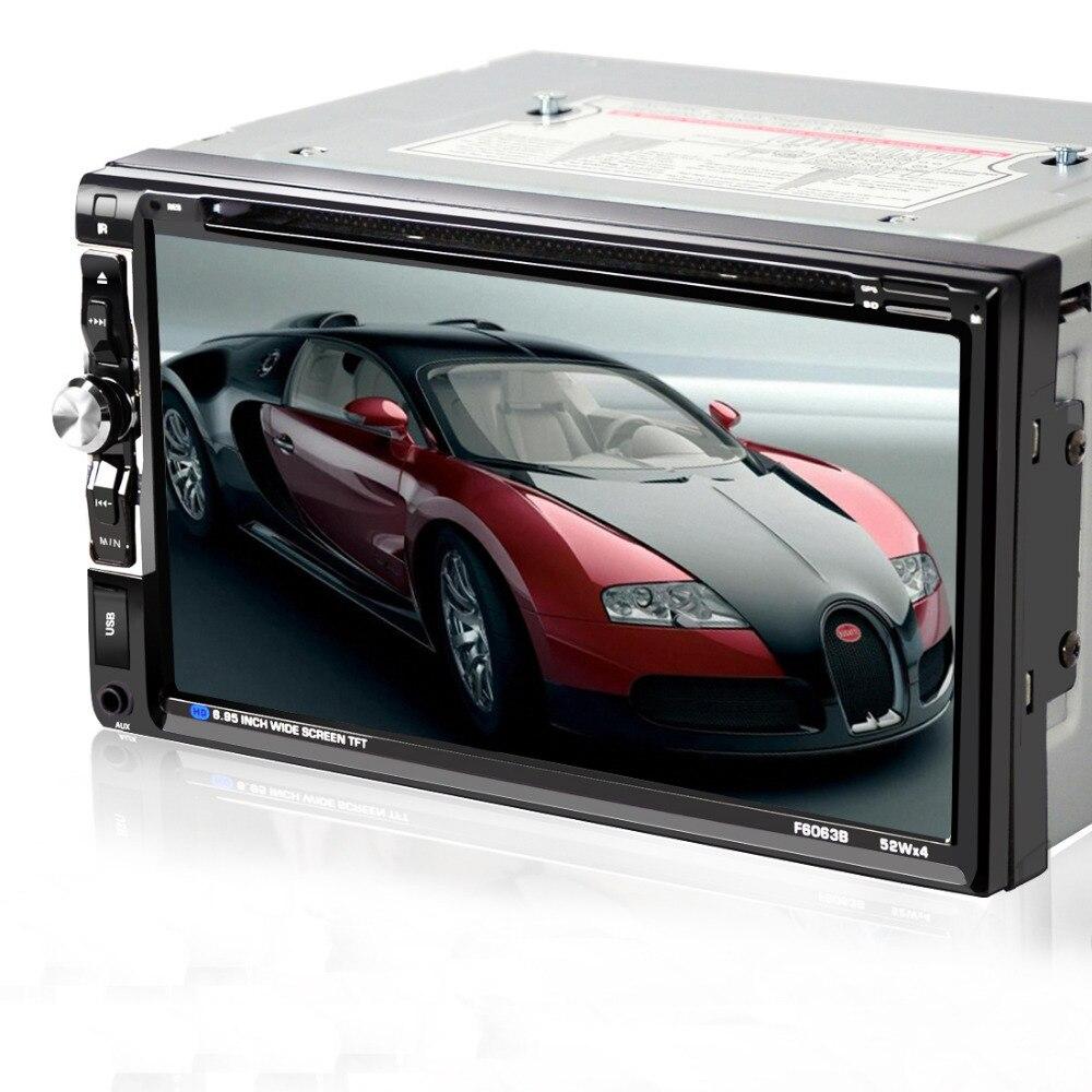 Lecteur multimédia de voiture universel 6.95 pouces 2 Din panneau fixe avec récepteur Radio récepteur Bluetooth TV Tuner lecteur DVD de voiture MP3 SD/USB