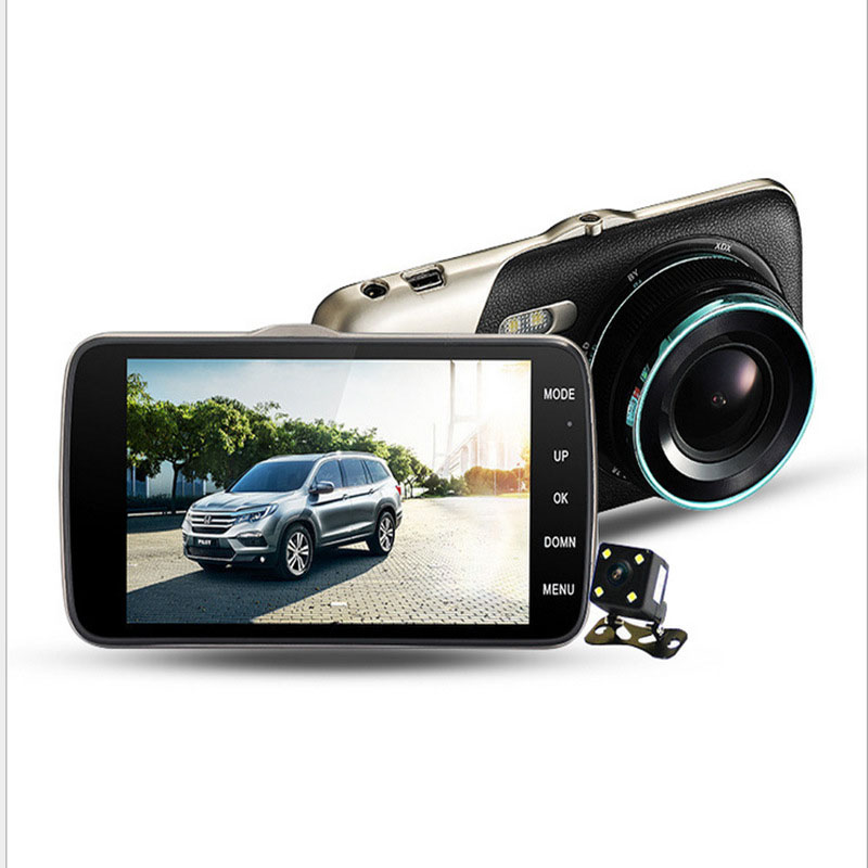 4 Inch Dash Camera Car DVR Large Screen High-definition Recorder Before and After The Twin Double Parking Monitor CAR DVR