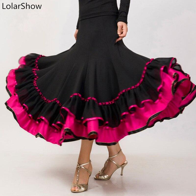 Women Dance Customes Latin Dance Dress Salsa Flamenco Ballroom Dance Skirt