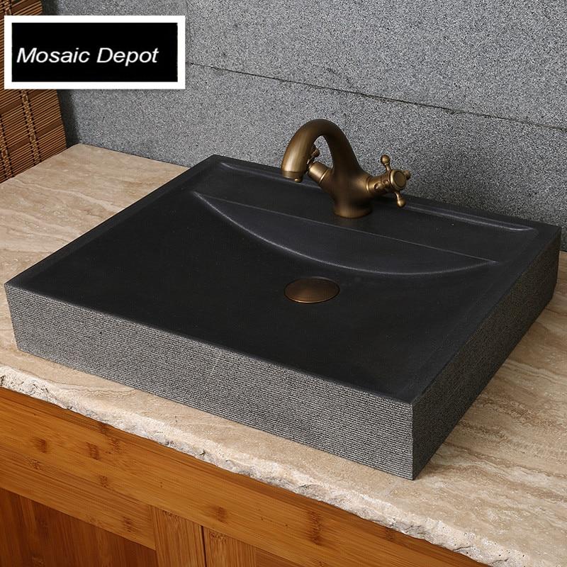 schwarz granit waschbecken toilette waschbecken bad stein. Black Bedroom Furniture Sets. Home Design Ideas
