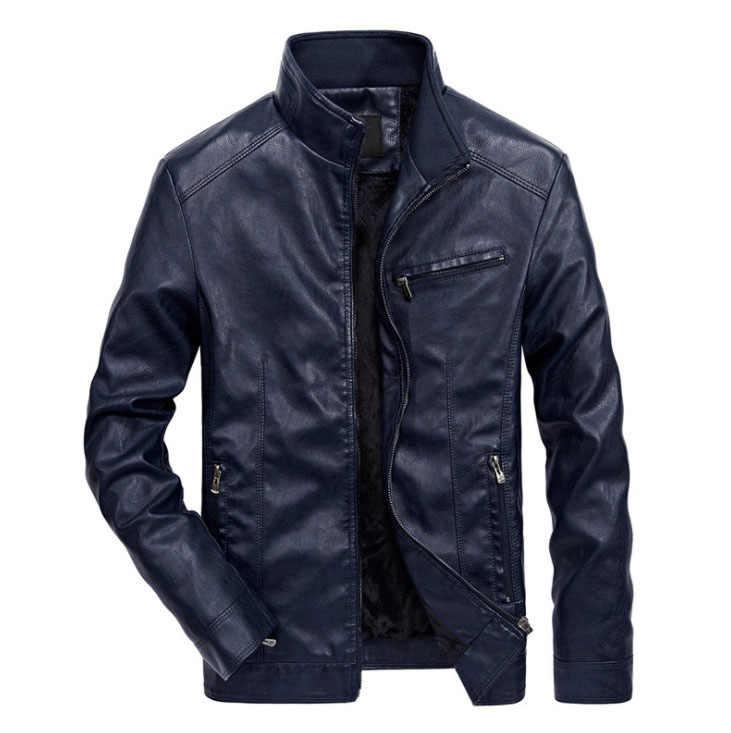 Прямая доставка мужские кожаные куртки мужские PU искусственная кожа весна осень тонкие пальто байкерские мотоциклетные мужские классические куртки с воротником-стойкой