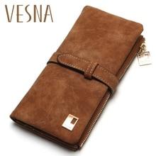 Luxury Brand High Quality 100% Top Pu Men Long Bifold Wallet Purse Vintage Designer Male Carteira