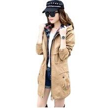 2016 New Women Spring Autumn Jacket Large Sizes Outerwear Parka Women 's Coats Cotton Hoodies Jacket  B044