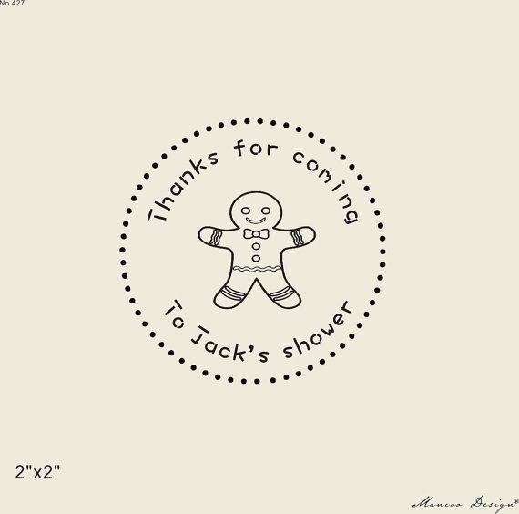 Custom Baby Shower Stamps 2 X2 Baby Shower Custom Thank You For