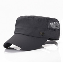 Fashion Summer Men women quick-drying flat hat light  sun hat shading net caps Adjustable Baseball Cap