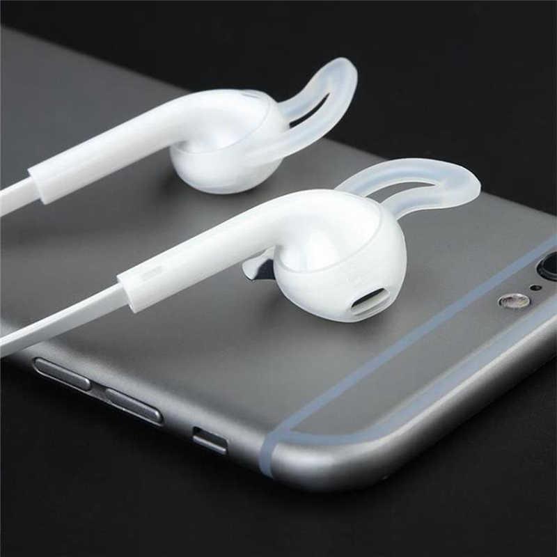 Dla AirPods 2 silikonowe antypoślizgowe osłona uszu Hook słuchawki słuchawki douszne do i7s tws i10 i11 i12 i16 i18 i19 i20 tws i30 w1 układu 1:1
