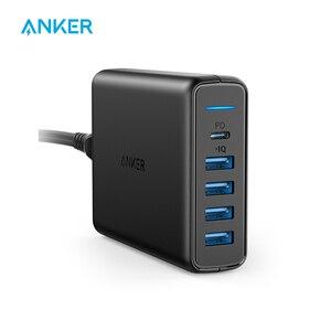 Image 1 - Anker USB C Premium 60 واط 5 Port شاحن سطح المكتب مع منفذ واحد 30 واط لابل ماك بوك نيكزس 5X/6P 4 منافذ PowerIQ آيفون باد