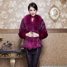 Fur ultralarge raccoon high quality rabbit fur outerwear slim waist short design outerwear fur