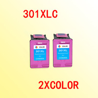 2x Color Ink Cartridge Compatible For Hp301 301xl For Hp 301 Deskjet 1000 1050 2000 2050